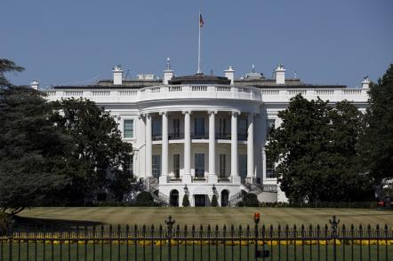 The White House is seen from the Ellipse in Washington, Sept. 25, 2019. (AP Photo/Carolyn Kaster)