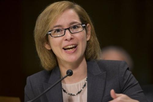 Karen Kaiser, general counsel at The Associated Press, testifies on Capitol Hill in Washington, Wednesday, May 6, 2015.