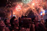 Fans cheer before a performance at the Rock in Rio music festival in Rio de Janeiro, Brazil, Sept. 16, 2017. (AP Photo/Leo Correa)
