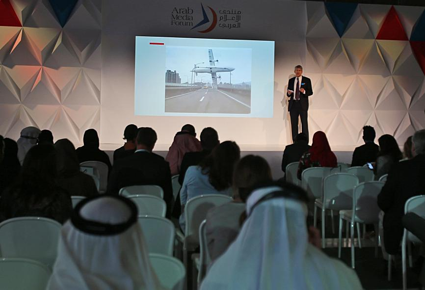 My talk at the Arab Media Forum in Dubai, United Arab Emirates, Tuesday, May 12, 2015.